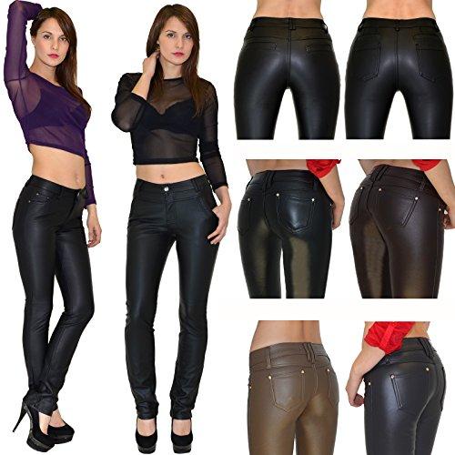 en femmes pour gris H12 Jean H12 by cuir Pantalon cuir slim pantalon simili pantalon femme tex femmes 4q0UH