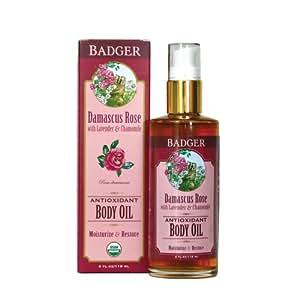 Badger Damascus Rose Antioxidant Body Oil
