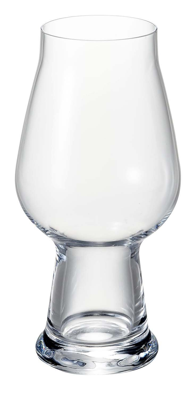 Luigi Bormioli Birrateque Craft Beer Glasses IPA/White (Set of 2), 18.25 oz, Clear