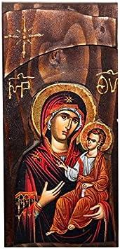 """20/"""" Gesù Cristo Dio Il Signore onnipotente icona Ortodossa LEGNO 3D intagliata Russo"""