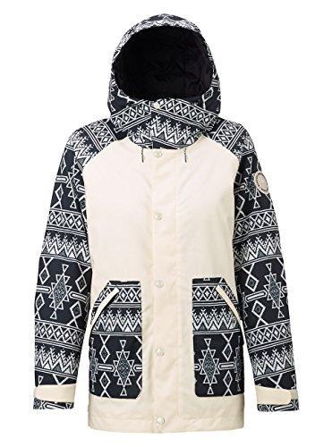 Burton Women's Eastfall Jacket, Canvas/True Black Mojave, (Burton Womens Snowboard Jackets)