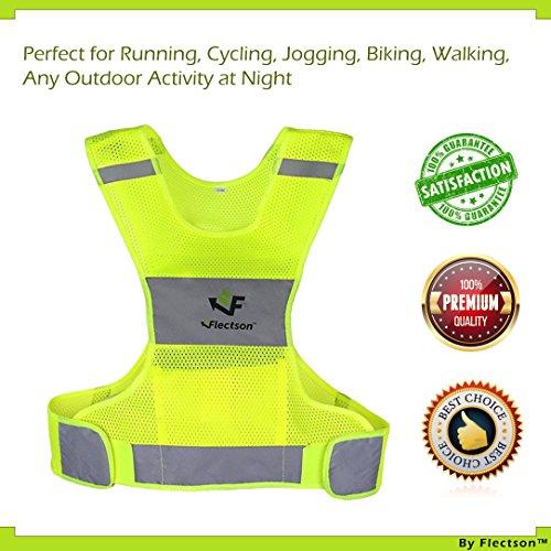 Reflektierende Weste für Laufen oder Radfahren (Damen und Herren, mit Tasche, Gear für Joggen, Radfahren, Walking)