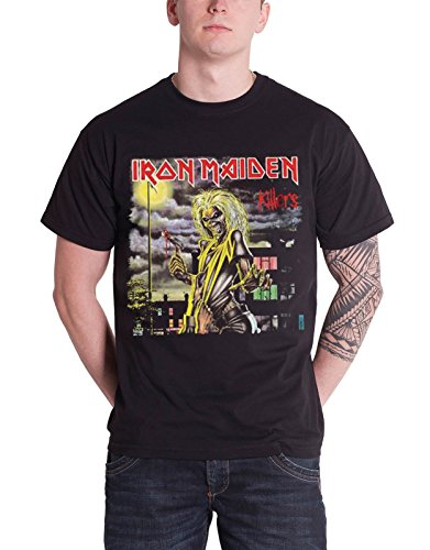 Iron Maiden T Shirt Killers Album Eddie Band Logo Mens Black Official