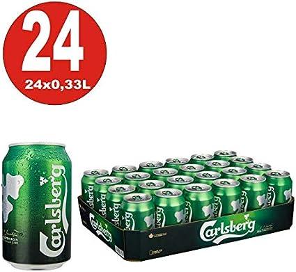 24x0,33L latas de cerveza Carlsberg Premium Lager Beer 5% Vol, incluyendo Pfand_EINWEG Pilsener Brauart