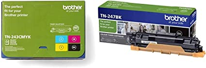 Brother Tn 243cmyk Original Toner Cartridge Prints Up To 1 000 Pages Cyan Magenta Yellow And Black Bürobedarf Schreibwaren
