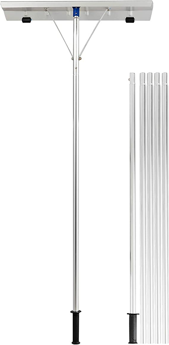 Amazon.com: Rastrillo de nieve de aluminio extensible de ...