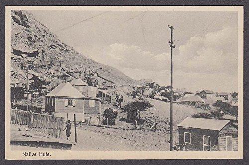 Native Huts Curacao Dutch West Indies postcard 1930s