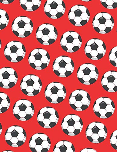 Soccer Ball Sketchbook (Red Edition)