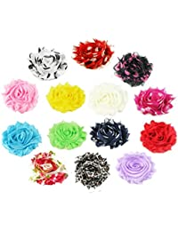 14 Colors Baby Girl Women Shabby Chiffon Flowers Lined...