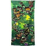 Nickelodeon Teenage Mutant Ninja Turtles Green Brick Bath Towel