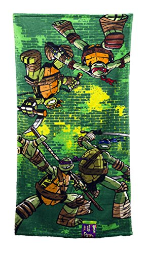 Nickelodeon Teenage Mutant Ninja Turtles Green Brick Kids Bath/Pool/Beach Towel - Super Soft & Absorbent Fade Resistant Cotton Towel, Measures 28 inch x 58 inch (Official Product)]()