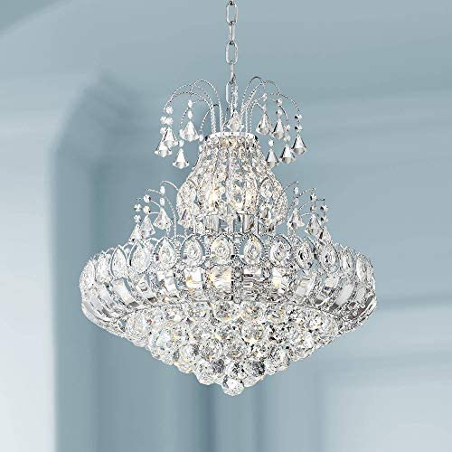 Calylah Chrome Tiered Chandelier 21 1/2″ Wide Crystal 8-Light Fixture