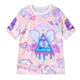 GIGA Women Teen Girl Harajuku Pink Cute Cartoon Summer Short Sleeve T Shirts