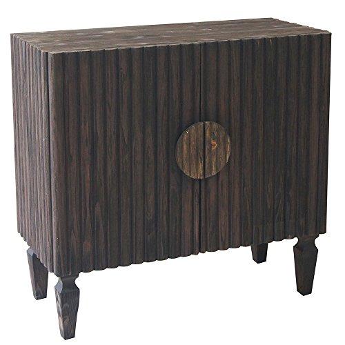 Crestview Collection Dakota 2 Door Ribbed Wood Cabinet