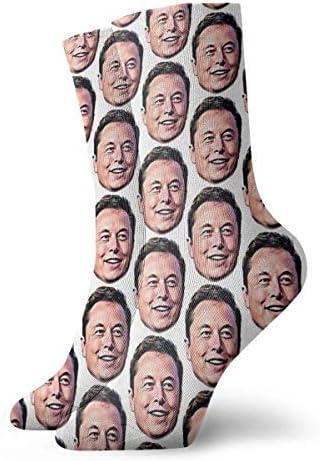 Elon Musk Sticker Atletische 30cm Sokken Enkelsokken Sport Casual Sokken Katoen Crew Sokken