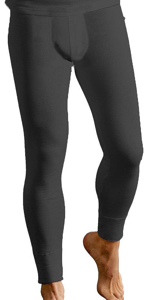 Men's Thermal Underwear Trousers Long Johns Pants Warm Baselayer Ski Wear Size S - XL (Medium, Black)