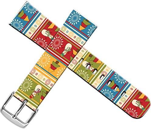 Bands For Iwatch 38mm Christmas - ENDIY Compatible Designer Fashionable Strap Replacement For Apple Watch Series 1/Series 2/Series 3 - Beautiful beautiful Christmas snowman and Christmas (Snowman Band)