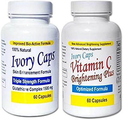 tablet ivory caps Skin care Whitening Lightening Support Glutathione Pills + Vitamin C Plus