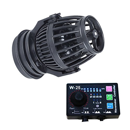 - Uniclife 2100 GPH Controllable Wavemaker with W-25 Controller and Magnet Mount for Marine Freshwater Aquarium Circulation Pond