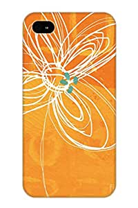 Awesome Case Cover/iphone 4/4s Defender Case Cover(white Flower On Orange) Gift For Christmas