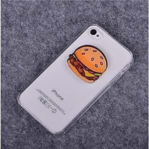 Estuche rígido hamburguesa patrón PC para el iphone 4 / 4s