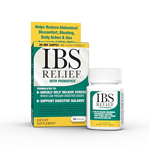 Accord IBS Relief (30 count) - Probiotic Anti-Stress Supplement for Digestive Balance, Irritable Bowel Syndrome, Abdominal Discomfort, Bloating, Body Aches, and Gas.