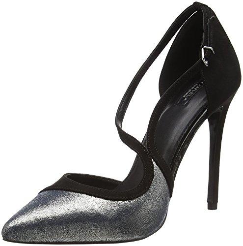 Carvela Globe, Zapatos de Baile Salón para Mujer Plateado / Negro