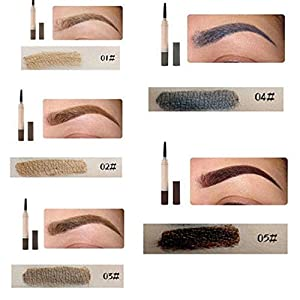 OrliverHL Eyebrow Pencil Long Lasting Waterproof Easy To Color Eye Brow Pen Drawing Shaping Eyebrow Pencil Make Up Tool ,Brown Red
