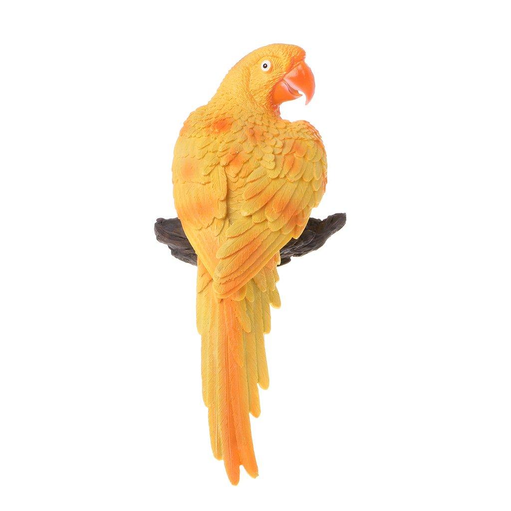 Amazon.com: Aixia Simulation Parrot Bird Sculpture Wall Hanging Iron ...