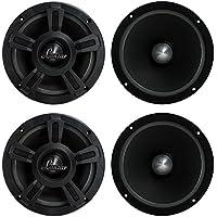 4) New LANZAR OPTI6MI 6.5 2000W Car Mid bass Mid Range Audio Power Speakers