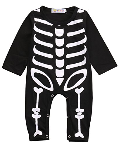 Baby Halloween Clothes (Newborn Baby Boy Girls Romper Bodysuit Infant Kids Halloween Costume Jumpsuit Outfits (6-12Months))
