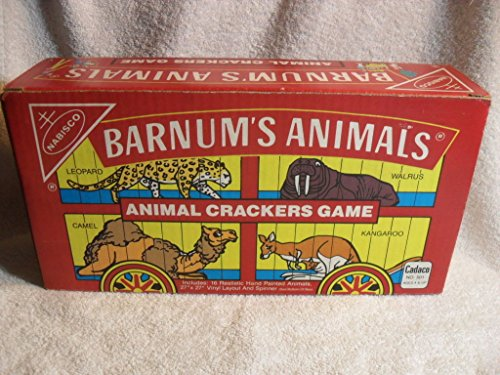 SCARCE! CADACO BARNUM'S ANIMALS CRACKERS GAME,1989 VERY RARE CIRCUS TOY