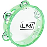 LMI Transparent Tambourine with Head Green 15CM