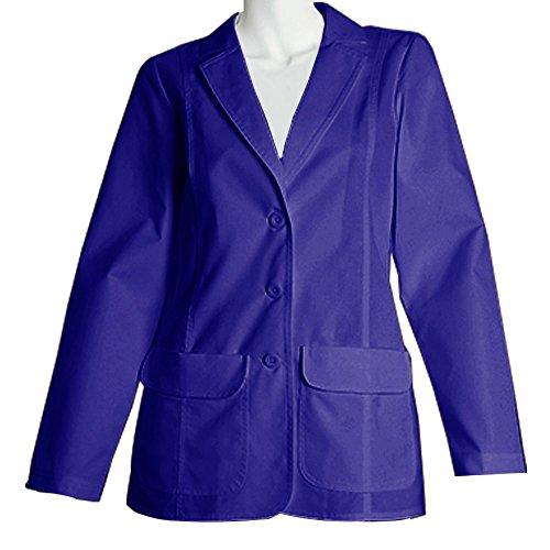 Panda Uniform Made to Order Women's 28 Inches Fashion Medical Lab Coat-Royal-10XL by Panda Uniform