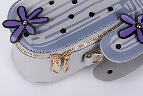 Cactus Cross QZUnique Chain Shape Bag Body Grey Exquisite Mini Handbags Cute Purses Shoulder Embroider Cute zqzrwPxYF5