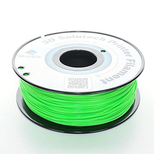 3D Solutech Printer Filament, Apple Green PLA, 1.75MM Filament, Dimensional Accuracy +/- 0.03 mm, 2.2 LBS (1.0KG) - 100% USA Plastic Filament