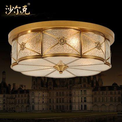 BLYC- 6 Europäische Kupfer Decke American Kupfer Lampe Schlafzimmer Wohnzimmer Studie Zimmer Balkon Lichter Gang Beleuchtung 600mm