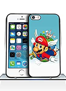 Iphone 5s Funda Case, Game - Super Mario Sunshine Impact Resistant Durable Aesthetic Personalized Style Anti Dust Extra Slim Compatible with Iphone 5 / 5s