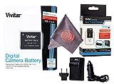 Vivitar NB-11L / NB-11LH Vivitar Ultra High Capacity Rechargeable 1200 mAh Li-ion Battery + AC/DC Vivitar Rapid Travel Charger + Microfiber Lens Cleaning Cloth