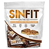 SINFIT On-the-Go – 15 Snack Size Bars in a Bag – Double Layer High Protein Crunch Bar by Sinister Labs – 9 g protein! Gluten-free – 15 (0.81 oz) Bars (Peanut Butter Crunch)