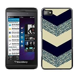 TopCaseStore / la caja del caucho duro de la cubierta de protección de la piel - Glitter Silver Black - Blackberry Z10