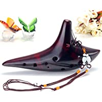 New 12 Holes Ocarina Alto C Smoldering Ceramic Submarine Shape Flute New By KTOY