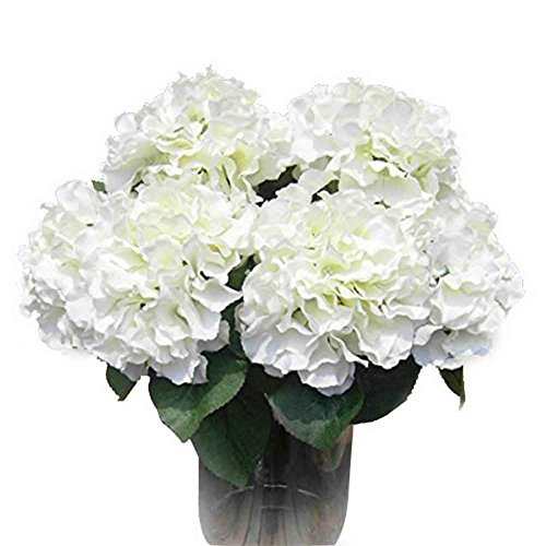 AMTION Artificial Silk Fake 5 Heads Flower Bunch Bouquet