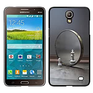 LOVE FOR Samsung Galaxy Mega 2 Mirror Chess Cat Lion Symbol View Yourself Personalized Design Custom DIY Case Cover