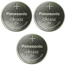 Panasonic CR1632-3 CR1632 3V Lithium Coin Battery (Pack of 3)