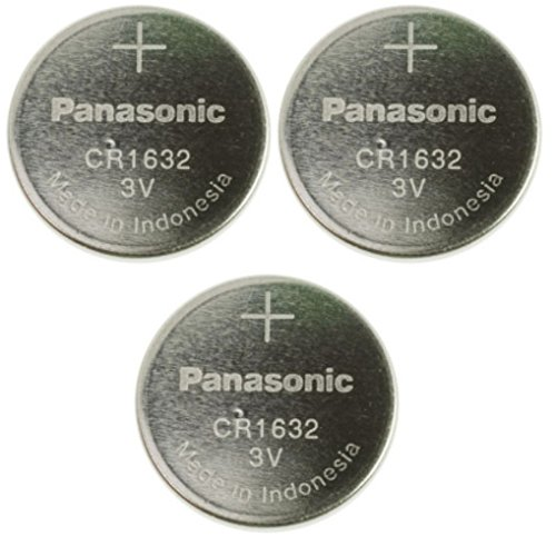Panasonic CR1632-3 CR1632 3V Lithium Coin Battery (Pack of 3) ()