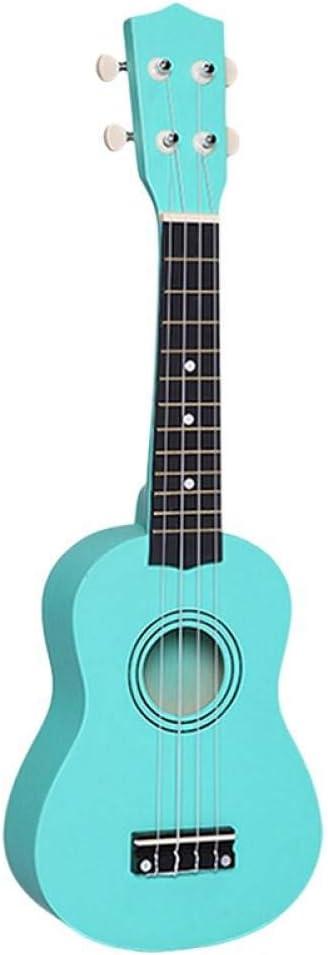 ZGHNAK Ukelele Soprano acústico pequeño de 21 pulgadas Ukelele de tilo colorido para principiante de guitarra Ukelele barato verde
