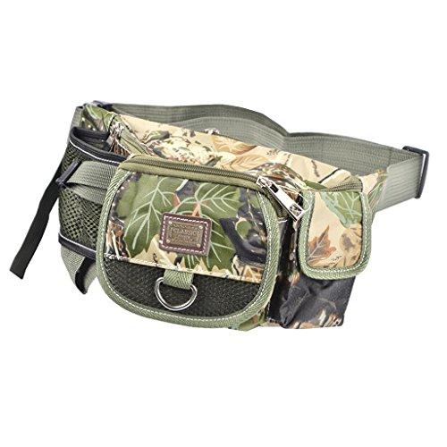 Outdoor marsupio, borsa per attrezzatura da pesca più tasca marsupio da viaggio escursionismo ciclismo borse