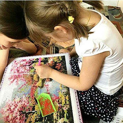 Flower Diamond Painting Kits for Adults, 5d Diamonds Art with Full Tools Accessories, Reflection Tree Arts Dotz Craft for Home Décor, Ideal Gift for Family or Self Use