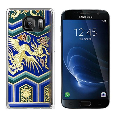 MSD Samsung Galaxy S7 Clear case Soft TPU Rubber Silicone Bumper Snap Cases IMAGE ID: 4067299 Phoenix Detail Temple of Heaven Beijing China Phoenix is the symbol of the Empress of (Empress Design Print)